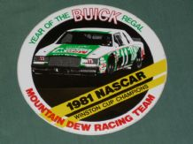 "BUICK REGAL MOUNTAIN DEW BUICK ""11"".1981  NASCAR CHAMPIONS sticker"